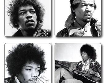 Jimi Hendrix Coasters set of 4