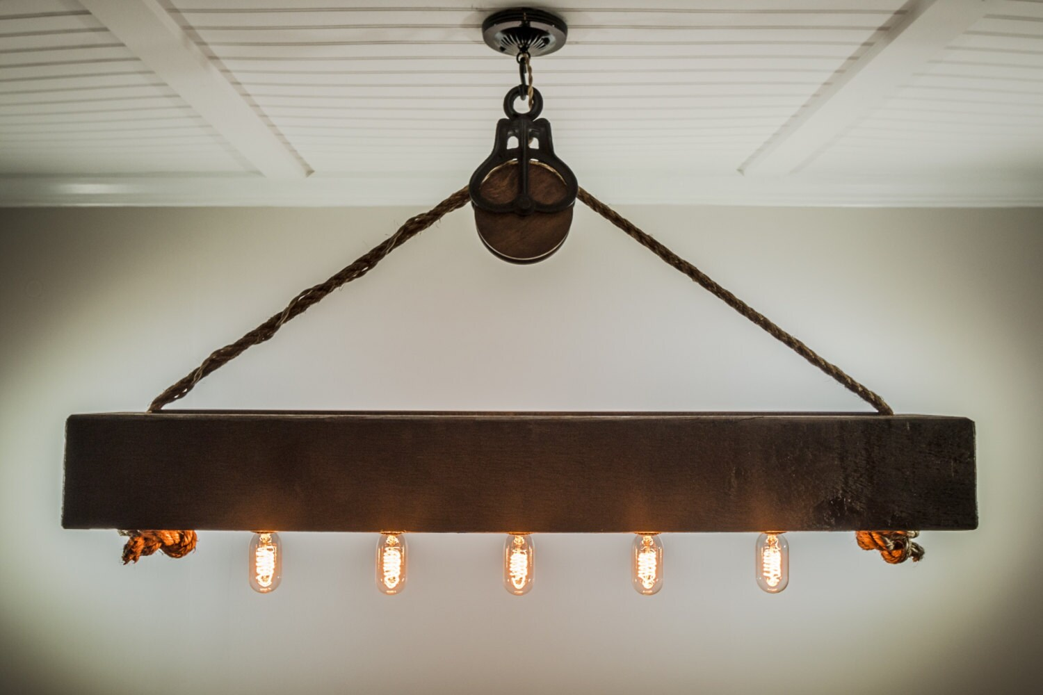 4 ft rustic beam edison bulb chandelier with vintage barn zoom arubaitofo Images