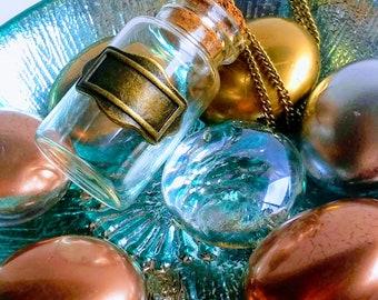 Empty  bottle/vial chain necklace