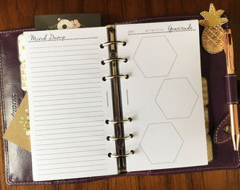Printed PERSONAL Size, Daily Gratitude Brain Dump Journal #pe28