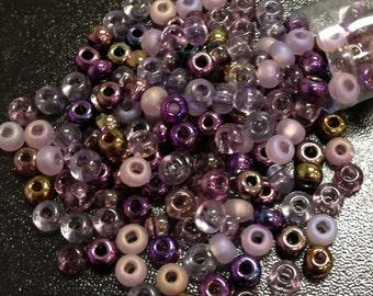 Lilac Mix Czech Seed Bead 8/o 8/0 8-mix01