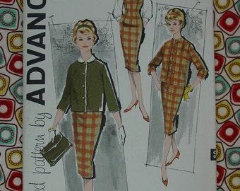 Vintage Pattern 1960's Advance No.9469 Sheath Dress,Jumper,Jacket,Blouse Sz.16 Uncut