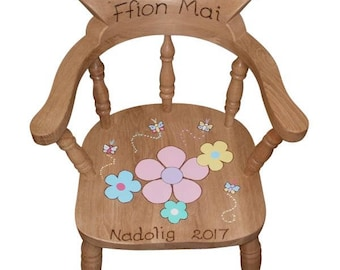 Personalised Child's Captains Chair for Girls