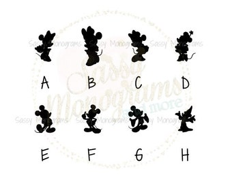 Disney Magic Band Mickey OR Minnie Silhouette Fitbit Vinyl Decal Sticker ~ Quick to Ship