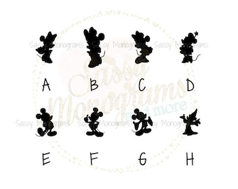 Disney Magic Band 2.0 Mickey OR Minnie Silhouette Fitbit Vinyl Decal Sticker ~ Quick to Ship