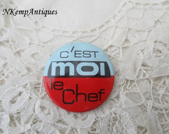 1950's french brooch chef