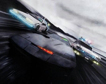 Knight Rider/Back to the Future/Ghostbusters Limited Edition Art Print