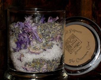 Lavender scented sea salt jar potpourri