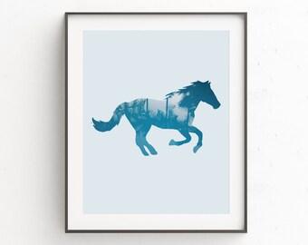Rustic Home Decor, Horse Print, Horse Decor, Rustic, Rustic Decor Bedroom, Horse Art, Horse Lover Gift, Digital Art, Rustic Wall Decor, Art