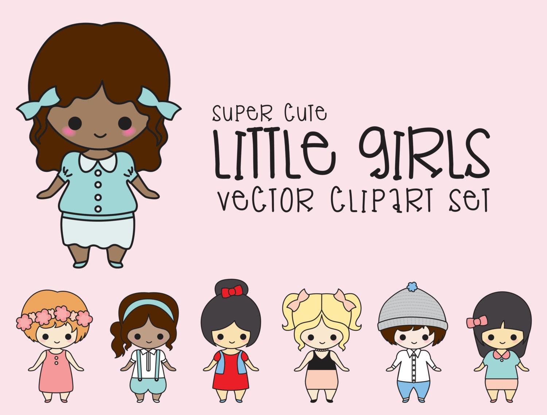 Premium Vector Clipart Kawaii Girls Clipart Kawaii