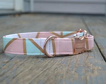 Dog Collar, Pink Dog Collar, Girl Dog Collar, Dog Collar Pink, Dog Collar Girl, Dog Collar Rose Gold, Rose Gold Dog Collar, Dog Collars, Dog