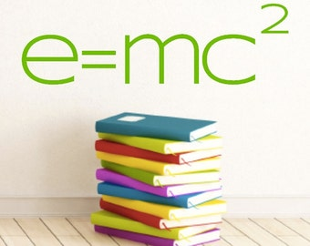 Science Classroom Decal - Math Class - e= mc 2 - math Teacher Decoration  - Physics Class Decor - Teacher Decoration - Wall Decal- Classroom