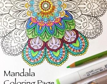 Printable Mandala Coloring Page - Instant Download