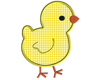 Baby Chick Applique Machine Embroidery Design-INSTANT DOWNLOAD