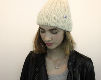 The Only Toque you'll ever need! 100% wool, natural,  handknit winter hat. Made in Toronto, Ontario, Canada.