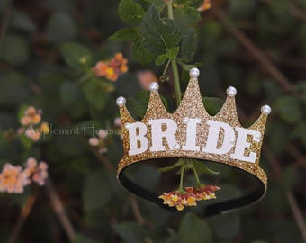 Bride Crown,Bachelorette Party Bride Crown, Bride Headband,Bride,Bride Gold Crown,Bridal Crown,Bachelorette Crown