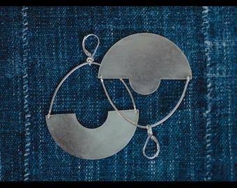 Figura Sterling Silver Shield Earrings