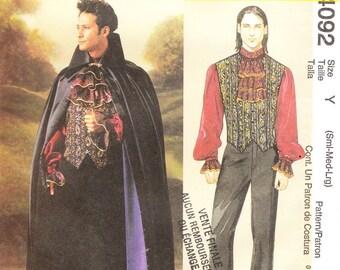 McCall's 4092 Men's Vampire Costume Pattern, S-L