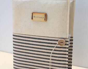 custom photo album personalized holds 208 photos Amy Butler fabric