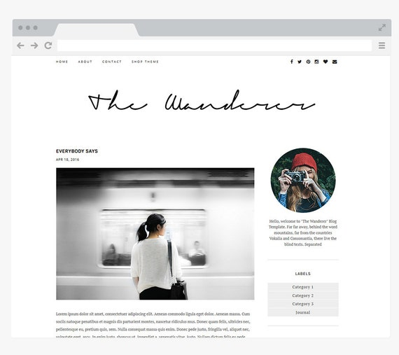 New premade blogger template simple and clean blog design for Blog design ideas