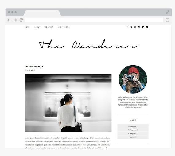 NEUEN vorgefertigten Blogger-Vorlage einfach und sauber