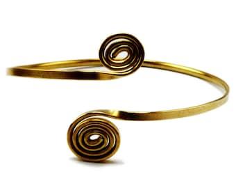 Boho Arm Band, Gold Arm Bracelet, Armlet, Brass Arm Cuff, Arm Bangle, Upper Arm Bracelet, Upper Arm Band, Upper Arm Bangle, Upper Arm Cuff