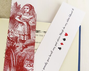 Alice in Wonderland Bookmark set - Gift for Readers - Book Mark - Literary Gift for Book Lover - Alice in Wonderland - Quote Bookmark