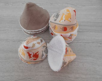 Set of 8 hats anti peeing in white cotton Terry and cotton