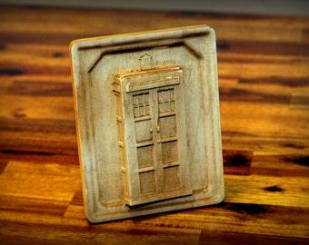 """Hardwood Maple Tardis Carving (6"""")"""