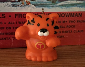 Upcycled Toy Little People Christmas Ornament-Tiger