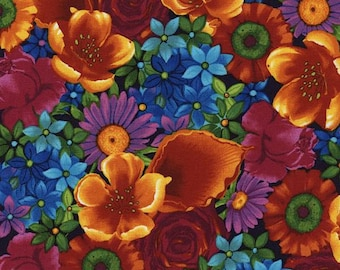 Timeless Treasures - Paradise - Mixed Floral - Multi - Fabric by the Yard C4713-MULT