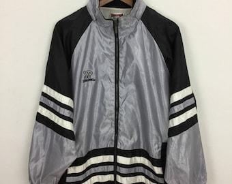 Vintage 90s Spalding Windbreaker Bomber Jacket Size L Kappa Reebok