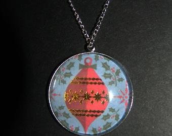 Weihnachten Christbaumkugel Stein Halskette