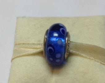 Authentic Pandora Silver Blue Bubbles Charm #790695