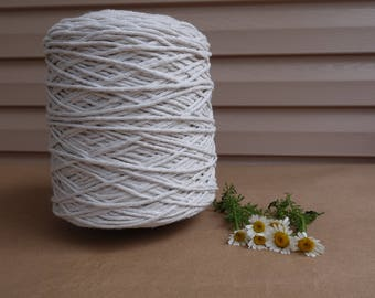 Off-white Macrame cotton cord, off-white 3mm cotton rope, 2,3 kg Over 800 metres (2600 feet) macrame cotton cord, macrame rope, macrame