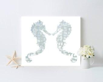 aqua seahorse bathroom art sea bathroom decor seahorse art shimmering wall art beach house decor bathroom wall art ocean art seahorse print