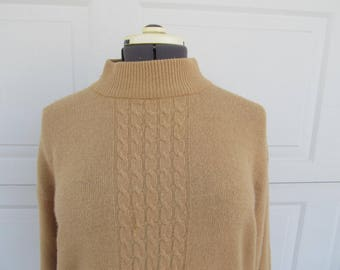 Vintage turtleneck sweater, oatmeal sweater, soft, cozy, oversized sweater, wool and angora