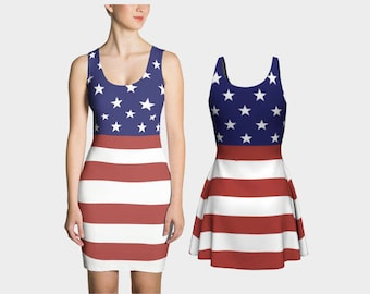American Flag Dress - Fit or Flare - 2 Styles