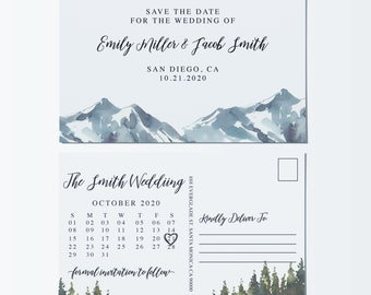 Wedding Save the Date Postcards by LoveAtEverySight|Save the Date Marriage Announcement Postcards,Wedding Announcements,Mount Design std114