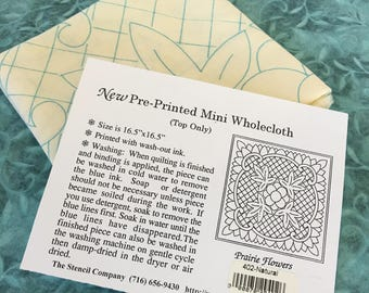 Pre-Printed Mini Wholecloth Quilt Marked Fabric, Ready to Stitch. 100% Cotton Marked With Wash-Out Ink Ready to Quilt. Quilt Top Only.