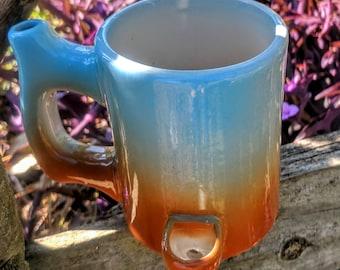 Wake N Bake Smoking Pipe Coffee Mug Blue Haze