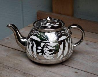 Gorgeous Silver Gibson Stafforshire  Teapot