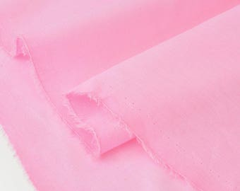 Fabric soft pink x 50cm extra cotton voile