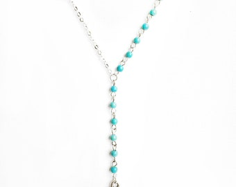 BEHESHTEH - SEPIDEH two sided silver tone necklace