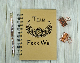 Team Free Will - Supernatural inspired Notebook/Journal