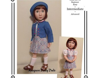 """PDF Pattern KDD22-16 """"Train Station""""- An Original KeepersDollyDuds Design,16"""" Doll Clothes Fits A Girl For All Time Dolls"""