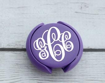 Purple Stethoscope Tag - Stethoscope Tag - Stethoscope ID Tag - Stethoscope Charm - Monogram Stethoscope - Nurse ID Tag - Nurse Gift