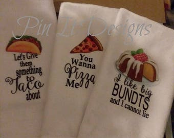 Funny Kitchen Towels - Kitchen Decor - Hostess Gift - Dish Towels - Housewarming Gift - Gift For Mom - Wedding Shower Gift - Hand Towel