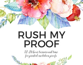 ADD ON // Rush Proof for Printed Invitation Orders