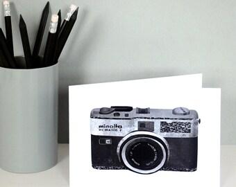 Collage Camera Birthday Card